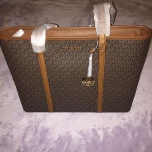 Michael Kors Large Brown Tote Handbag